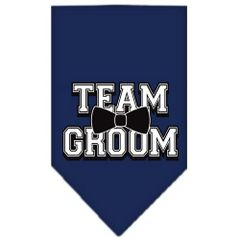 Dog Bandanas: Screen Print Cotton Dog Bandana 'TEAM GROOM' Different Colors in Small or Large by Mirage USA