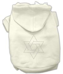 Dog Hoodies: STAR of DAVID Rhinestone Dog Hoodie by Mirage Pet Products USA