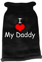 Dog Sweaters: Screen Print I LOVE DADDY Knit Dog Sweater in Different Colors & Sizes - Mirage