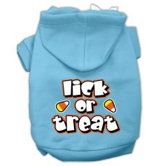 Dog Hoodies: LICK OR TREAT Screen Print Dog Hoodie in Various Colors & Sizes by MiragePetProducts