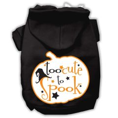 Dog Hoodies: TOO CUTE TO SPOOK Screened Print Dog Hoodie by Mirage Pet Products USA
