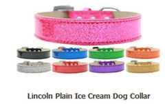 Dog Collars: Plain Dog Collar in Various Sizes & Colors USA - LINCOLN ICE CREAM