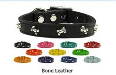 Leather Dog Collars: Dog Collar Various Sizes & Colors USA - BONE LEATHER