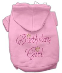 Dog Hoodies: Cute Rhinestone BIRTHDAY GIRL Dog Hoodie by Mirage Pet Products USA