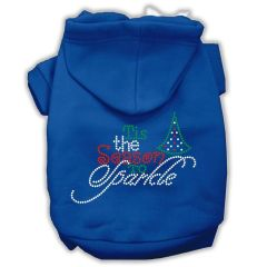 Dog Hoodies: Rhinestone TIS THE SEASON TO SPARKLE Dog Hoodie by Mirage Pet Products USA