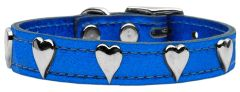 Leather Dog Collars: METALLIC Leather Dog Collar Mirage Pet Products USA - HEARTS