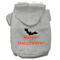 Dog Hoodies: HAPPY HALLOWEEN Screen Print Dog Hoodie in Various Colors & Sizes by MiragePetProducts