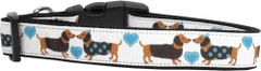 Holiday Dog Collars: Cute Nylon Ribbon Dog Collar USA - DOXIE LOVE