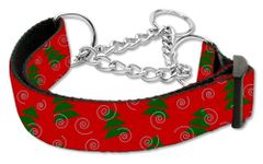 Martingale Dog Collars: CHRISTMAS TREES Nylon Ribbon Dog Collar Mirage Pet Products USA