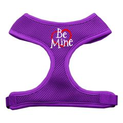"Dog Harnesses: Screen Print - ""BE MINE"" Soft Mesh Dog Harness in Several Sizes & Colors USA"