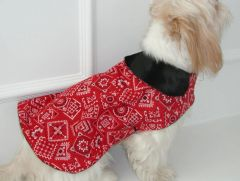 Dog Coats: Alexis Creations 'Cowdog' Winter Dog Coat Cotton fabric Fleece Lining