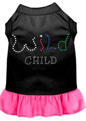 DOG DRESSES: Rhinestone Dress WILD CHILD Poly/Cotton with Ruffle Trim Various Colors & Sizes by Mirage