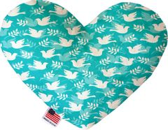 PET TOYS: Soft Velvety Fabric Heart Shape Pet Toy - HOPE & PEACE in 2 Sizes Made in USA by MiragePetProducts