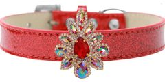 BLING DOG COLLARS: Golden Collection Rudy Red Sofia on Ice Cream Dog Collar 5 Sizes/3 Colors by MiragePetProducts