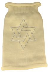 Dog Sweaters: Rhinestone STAR OF DAVID Acrylic Knit Dog Sweater in Variety of Colors & Sizes - Mirage