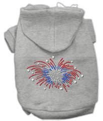 Dog Hoodies: Cute Rhinestone FIREWORKS Dog Hoodie by Mirage Pet Products USA