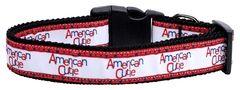 Patriotic Dog Collars: Nylon Ribbon Collar by Mirage Pet Products - AMERICAN CUTIE