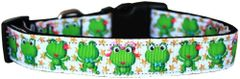Dog Collars: Nylon Ribbon Collar by Mirage Pet Products USA - HAPPY FROGS