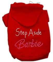 Dog Hoodies: STEP ASIDE BARBIE Rhinestone Dog Hoodie by Mirage Pet Products USA
