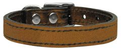Leather Dog Collars: METALLIC Leather Dog Collar Mirage Pet Products USA - PLAIN