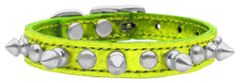 Spiked Dog Collars: Genuine Leather Metallic Dog Collar Mirage Pet Products - CHASER