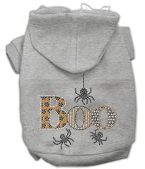 Dog Hoodies: Cute BOO Rhinestone Dog Hoodie by Mirage Pet Products USA