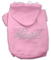 Dog Hoodies: Cute Rhinestones ANGEL Design Dog Hoodie by Mirage Pet Products USA