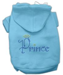 Dog Hoodies: Rhinestone PRINCE Design Dog Hoodie by Mirage Pet Products USA