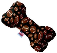 PET TOYS: Durable Fabric/Canvas Bone Shape Pet Toy FOOTBALLS in 3 Sizes Made in USA by MiragePetProducts