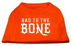 Dog Shirts: BAD TO THE BONE Screen Print Dog Shirt in Various Colors & Sizes by Mirage