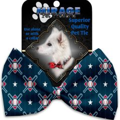 DOG BOW TIE: Decorative & Classy Silky Polyester Bow Tie for Dogs - BATS & BALLS