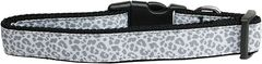 Dog Collars: Nylon Ribbon Collar by Mirage Pet Products USA - SILVER LEOPARD