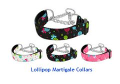 Martingale Dog Collars: LOLLIPOP Nylon Ribbon Dog Collar Mirage Pet Products
