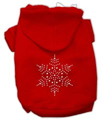 Dog Hoodies: SNOWFLAKE Rhinestone Dog Hoodie by Mirage Pet Products USA