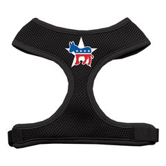 Dog Harnesses: Screen Print - DEMOCRAT Donkey Soft Mesh Dog Harness in Several Sizes & Colors USA