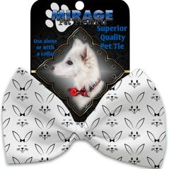 DOG BOW TIE: Decorative & Classy Silky Polyester Bow Tie for Dogs - BUNNY FACE