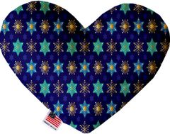 PET TOYS: Soft Velvety Fabric Heart Shape Pet Toy - STAR OF DAVID & SNOWFLAKES in 2 Sizes Made in USA by MiragePetProducts