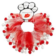 Smoochers Dog Collars: Smoocher Dog Collar Mirage Pet Products - CANDY CANE FUZZY WUZZY