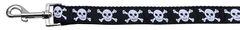 Nylon Dog Leashes: Skulls Nylon Dog Leash in 2 lengths by Mirage Pet Products USA