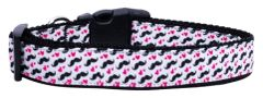Dog Collars: Nylon Ribbon Collar by Mirage Pet Products USA - MOUSTACHE LOVE