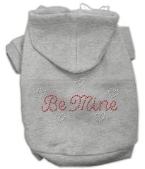 Dog Hoodies: Cute Rhinestone BE MINE Dog Hoodie by Mirage Pet Products USA