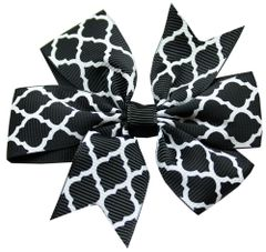 Dog Hair Accessories: Hair Bow Quatrefoil Barrette Clip for dogs by Mirage