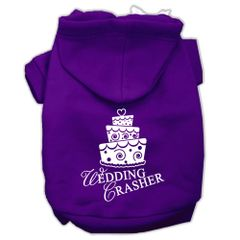 Dog Hoodies: WEDDING CRASHER Screened Print Dog Hoodie by Mirage Pet Products USA