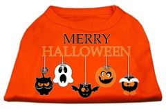 Dog Shirts: HALLOWEEN Day Screen Print Dog Shirt in Various Colors & Sizes by MiragePetProducts - MERRY HALLOWEEN