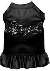 DOG DRESSES: Rhinestone Dress ANGEL Poly/Cotton with Ruffle Trim Various Colors & Sizes by Mirage