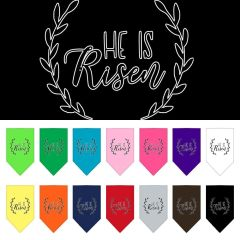 Dog Bandanas: Easter Tie On Bandana Screen Print Large or Small Mirage Pet Products USA - 'HE IS RISEN'