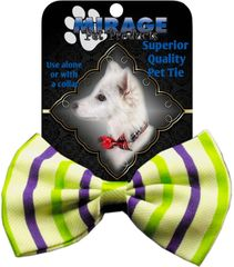 DOG BOW TIE: Decorative & Classy Silky Polyester Bow Tie for Dogs - SUMMER BREEZE