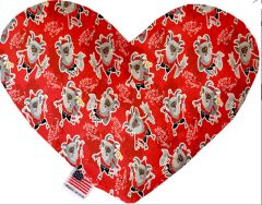 PET TOYS: Soft Velvety Fabric Heart Shape Pet Toy - KRAMPUS in 2 Sizes Made in USA by MiragePetProducts