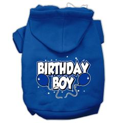 Dog Hoodies: BIRTHDAY BOY Screen Print Dog Hoodie in Various Colors & Sizes by MiragePetProducts