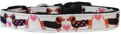 Dog Collars: Nylon Ribbon Dog Collar by Mirage Pet Products USA - PINK DOXIE LOVE